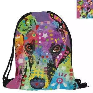 Greyhound Drawstring Bag